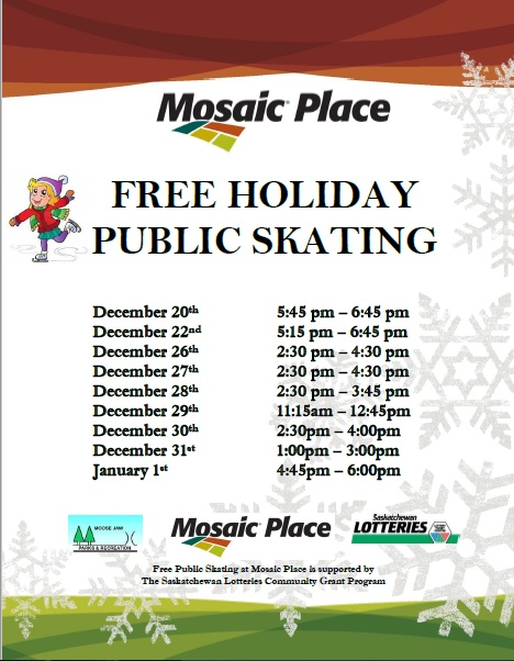 Free Holiday Public Skating Mosaic Place 2016 2017